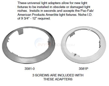 Universal Light Ring Adapters Diagram