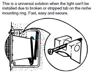 Universal Light Fixture Wedge Parts Inyopools Com
