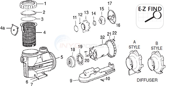 Jacuzzi High Flow Hydraulic Parts Diagram