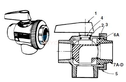 "Hayward Deluxe 1 1/2"" - SP- 720, 730, 735 Parts Diagram"