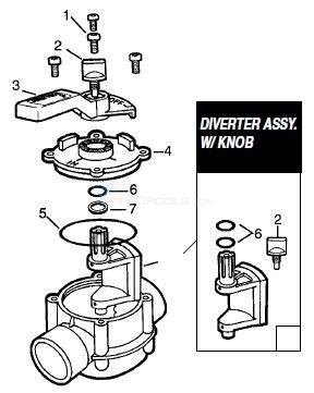 Jandy 2-Port, 3 Port, 90° 2-Port (Gray CPVC) Parts
