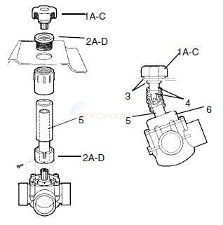 Jandy Spa Valve Mounting Bracket Kits Diagram