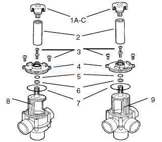 Jandy 3 & 4 Port Space Saver Spa Valve Diagram
