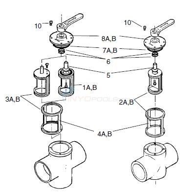 Ortega / Purex Valve Parts Diagram