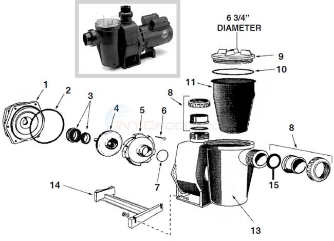 hydro pro pool pump wiring diagram waterco hydrostorm pump parts - inyopools.com #4