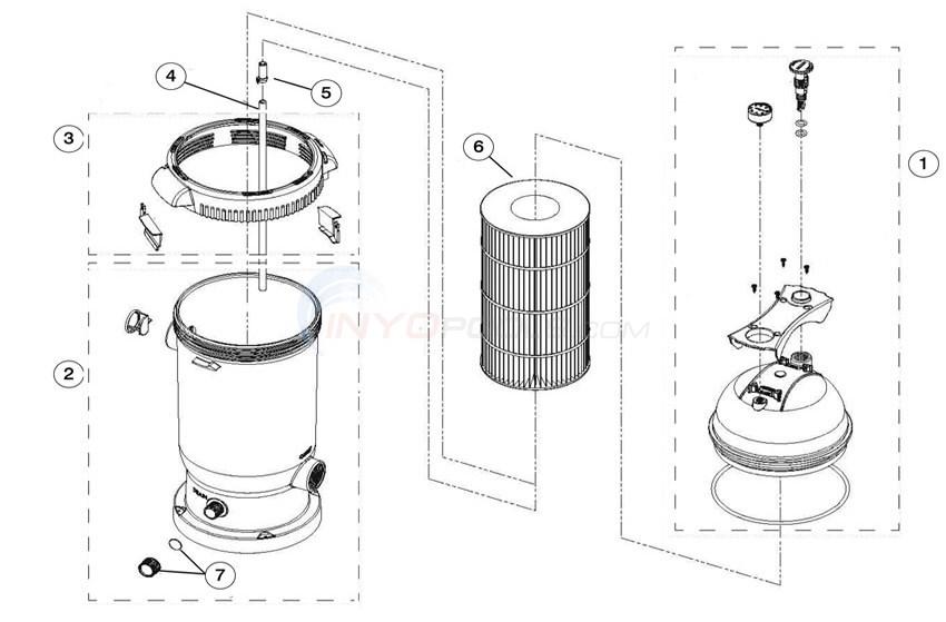 Waterway ProClean Plus Cartridge Filter  Diagram