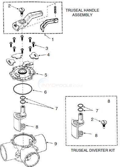 Waterway Truseal Valve Parts Diagram