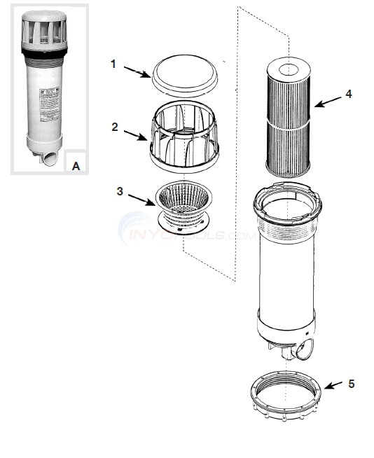 Waterway Ultra Skim Filter Diagram