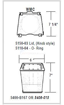 WMC Pump Lids & Baskets Diagram