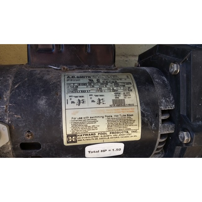 A.O. Smith Century 1.5 HP Round Flange 56J Dual Speed Full Rate Motor - STS1152R