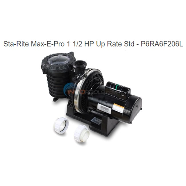 Sta-Rite Max-E-Pro 1 1/2 HP Up Rate Std - P6RA6F206L