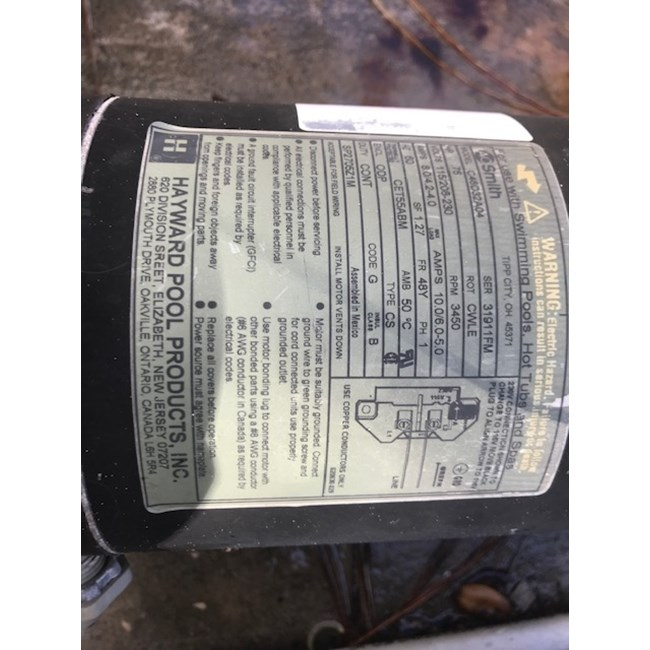 A.O. Smith Century 3/4 HP Round Flange 56J Full Rate Motor - ST1072