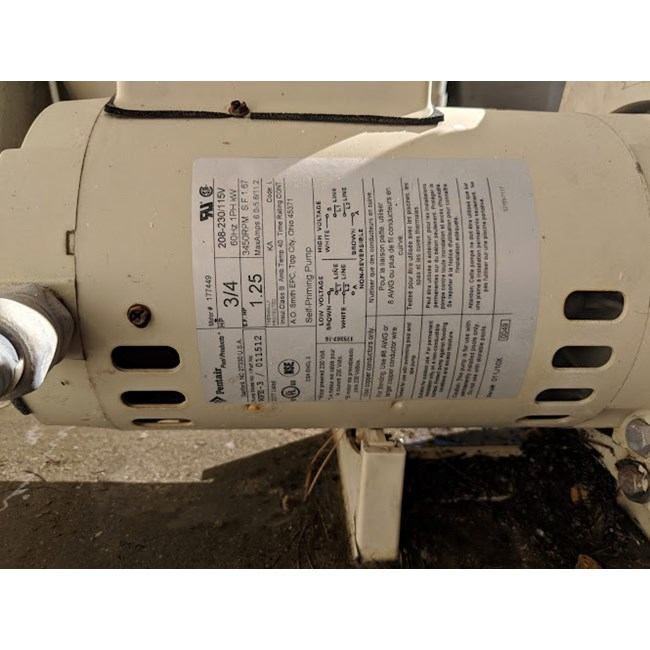 A.O. Smith 3/4 HP Square Flange 56Y Full Rate EE Motor - B2661