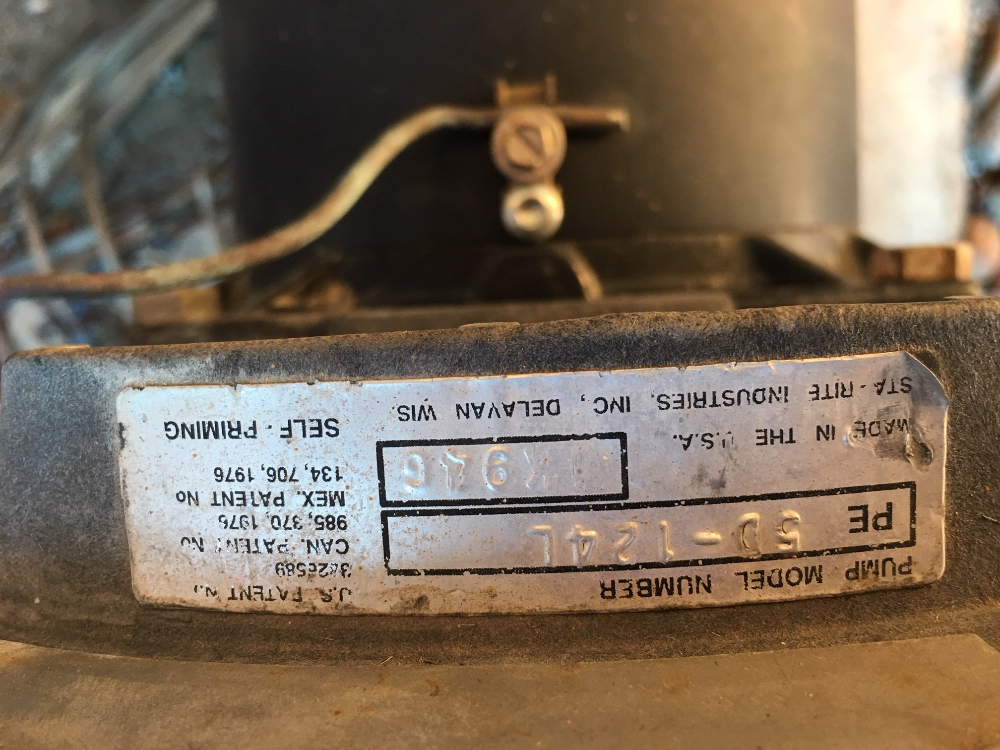 A.O. Smith 3/4 HP Square Flange 48Y Full Rate Motor - SQ1072