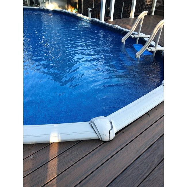 "Wilbar Top Cap 8""  Outer Straight Side of Oval Oasis Pools  (Single) - 16302"