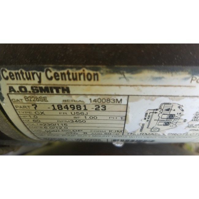 A.O. Smith 1 HP Round Flange 56J Up Rate Motor - UST1102