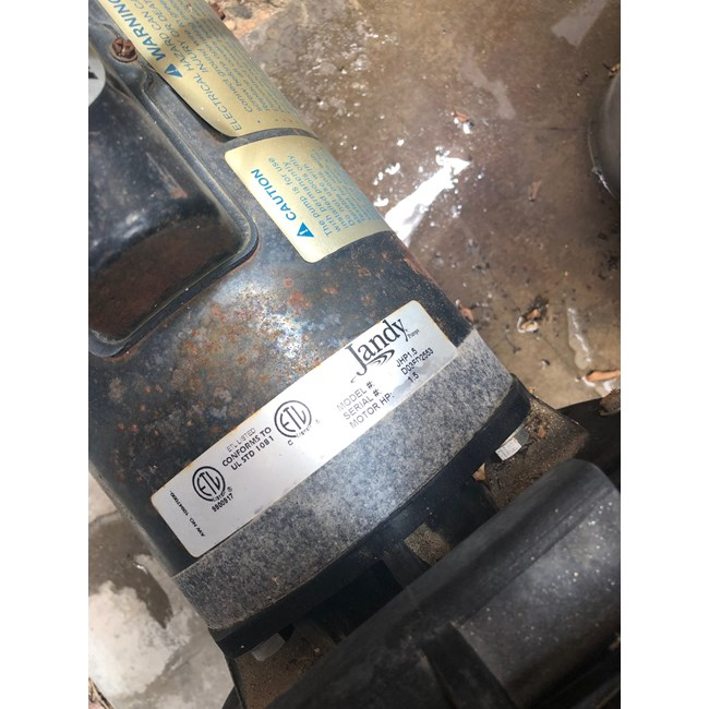 A.O. Smith 1.5 HP Round Flange 56J Full Rate EE Motor - B129