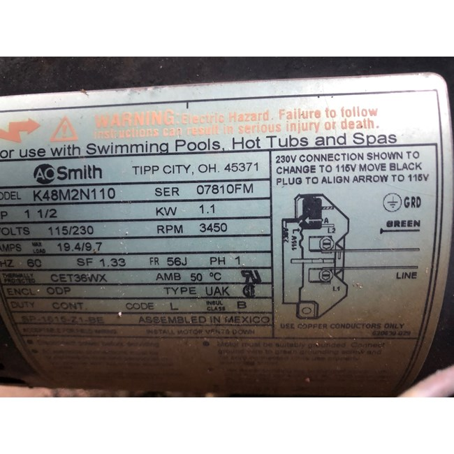 A.O. Smith Century 1.5 HP Round Flange 56J Full Rate Motor - ST1152