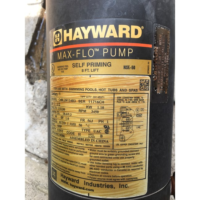 A.O. Smith Century 1.5 HP Round Flange 56J Up Rate Motor ... on