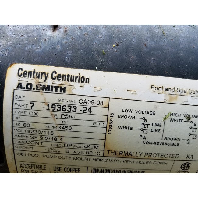 A.O. Smith 2 HP Round Flange 56J Up Rate Motor - B230SE