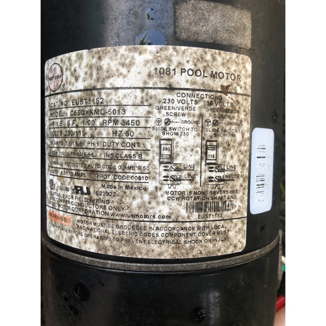 A.O. Smith Century 2.0 HP Round Flange 56J Up Rate Motor - UST1202