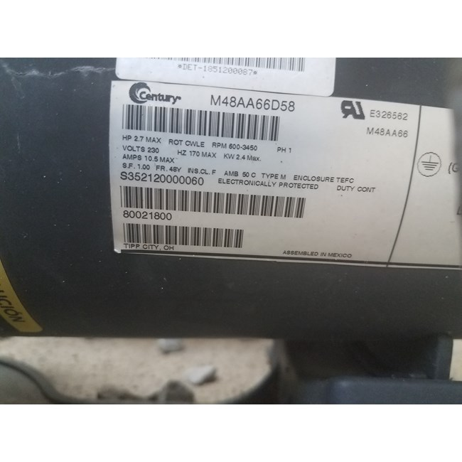 A.O. Smith V-Green 2.7 HP Square Flange 48Y Variable Speed Motor - ECM27SQU
