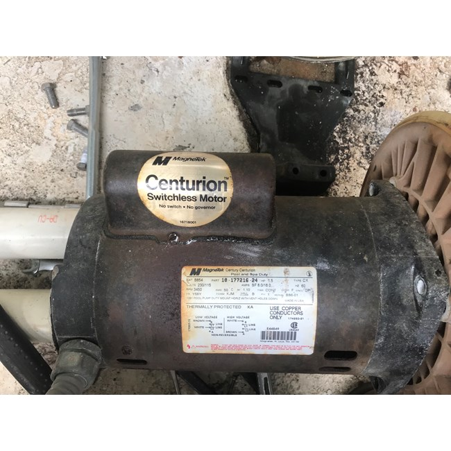 Magnetek A.O. Smith 1.5 HP Square Flange 56Y Up Rate Motor - B2854