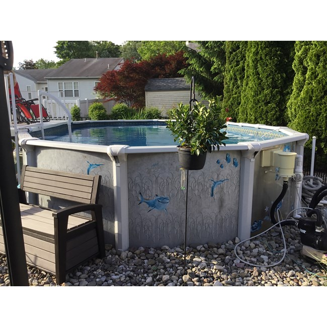 "Wilbar Top Rail 8"" Curved Side Morada Pools (Single) 12' Round - 21511"