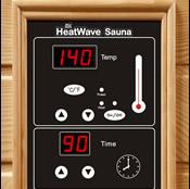 2 person sauna control panel