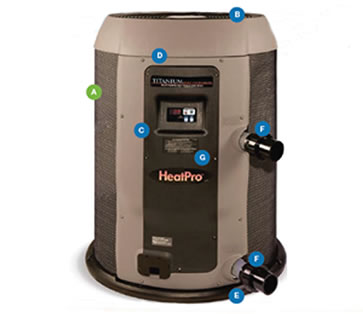 Hayward Heat Pro Heat Pump 50k Btu Digital Display Above