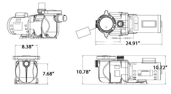 Pentair Superflo 1 Hp Single Speed Pump