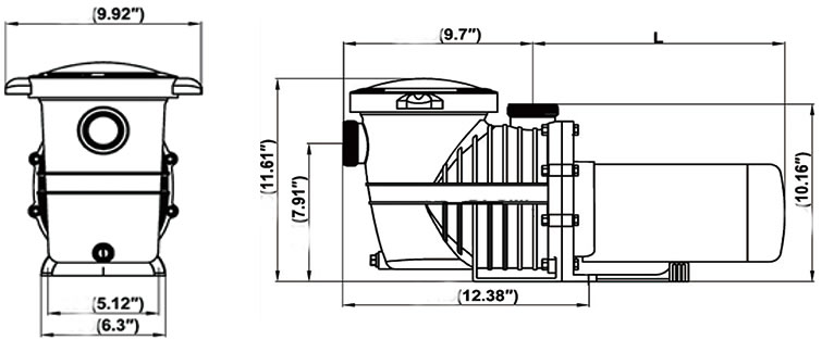 pureline 1 5 h p in ground pool pump - 72744