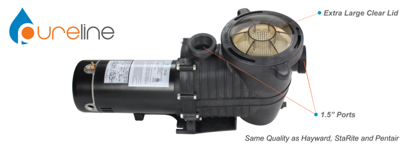 Pureline 1 5 H P In Ground Pool Pump Pl1601 Inyopools Com
