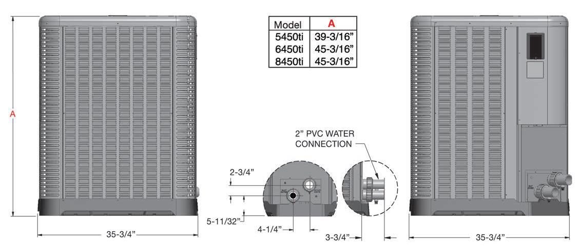 Raypak Heat Pump 8450 Model with Titanium Heat Exchanger 140k BTU 016033