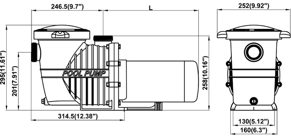 3  4 h p in ground pool pump - bc2742