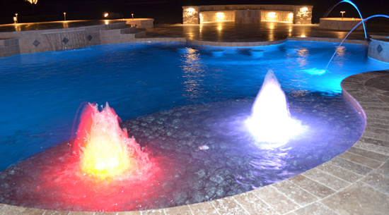 Custom Molded Products Led Pool Bubbler W 100 Ft Cord