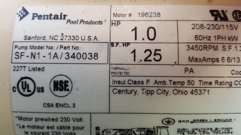 Pentair Superflo 1 Hp Capacitor