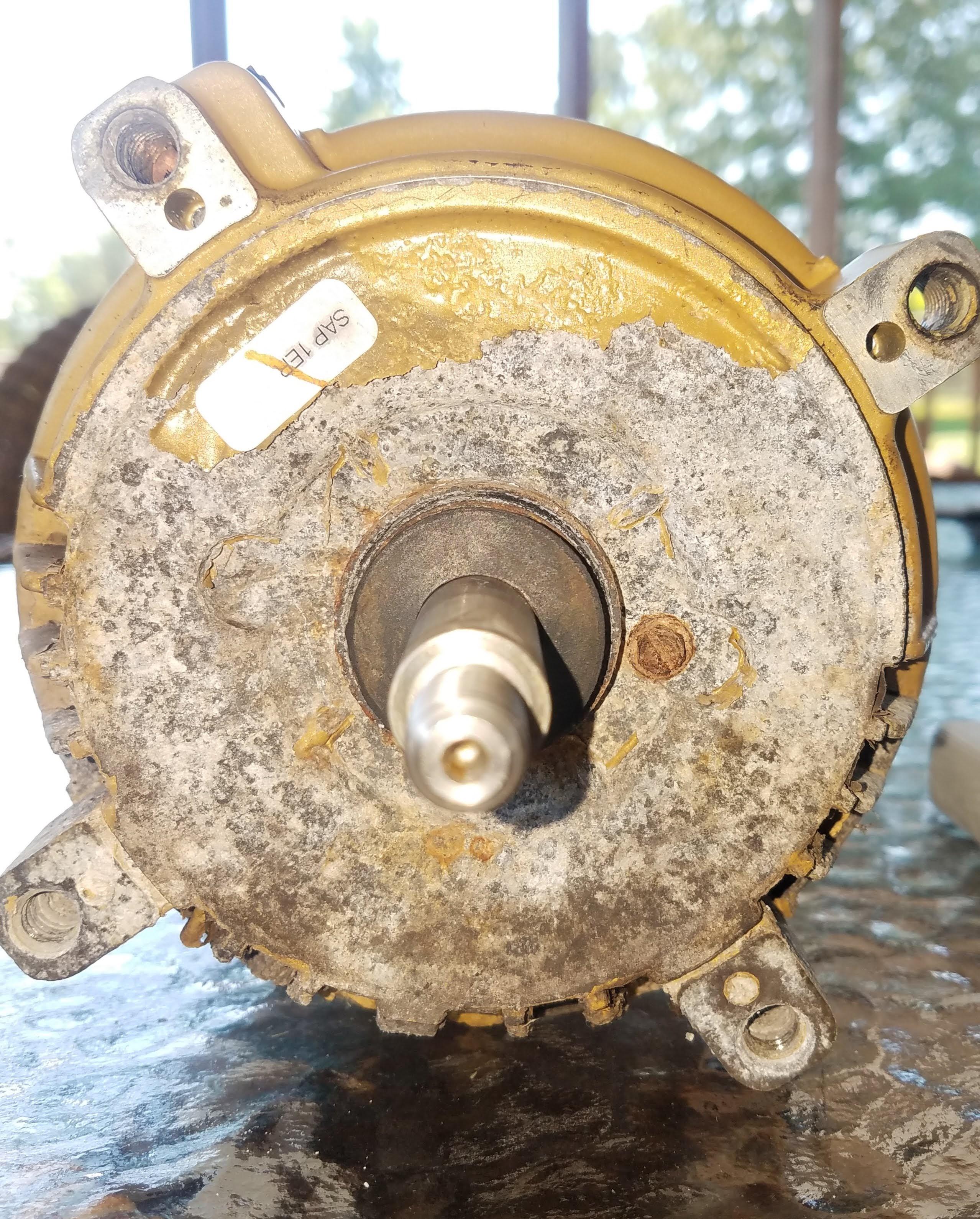 Hayward Super Pump motor rusted
