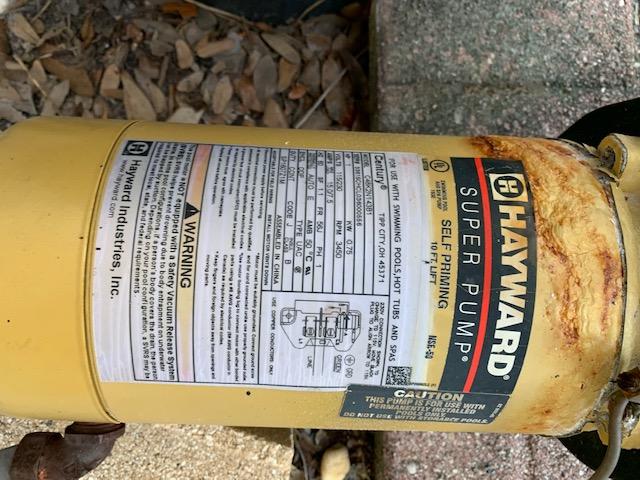 Hayward Super Pump corrosion