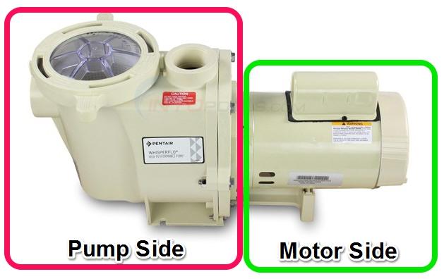 Pool Pump Side - Pool Motor Side
