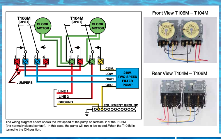 Dual Speed Motor Wiring To Timers