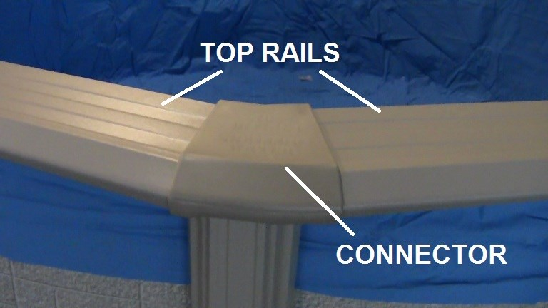 How To Assemble An Above Ground Pool Part 5 Top Rails