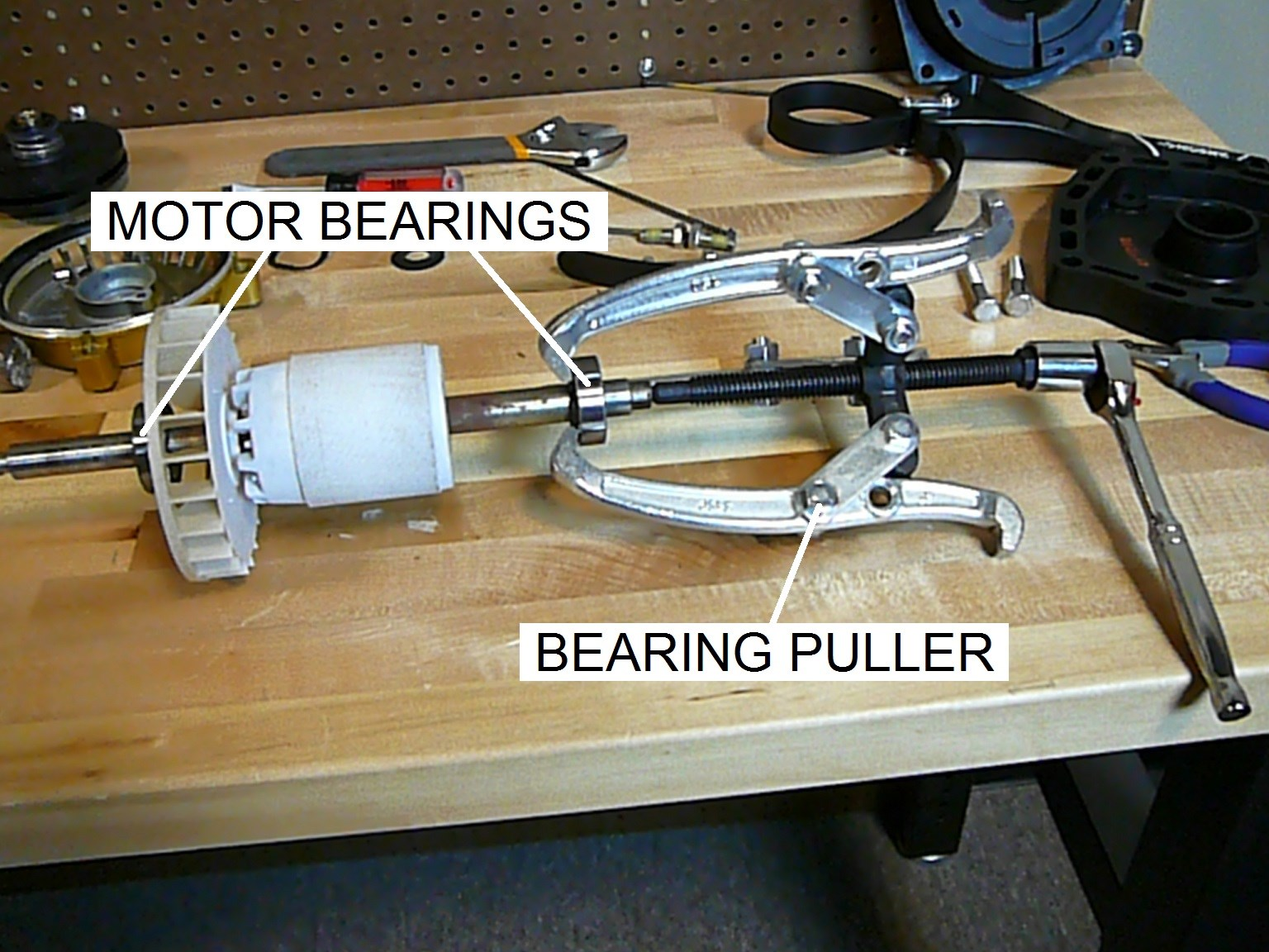 How to replace the bearings in a pool pump motor part i for Well pump motor replacement