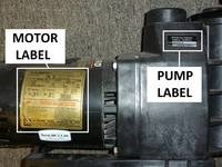 replacement pool motor label