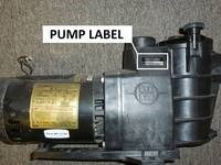 where is my pump model number label
