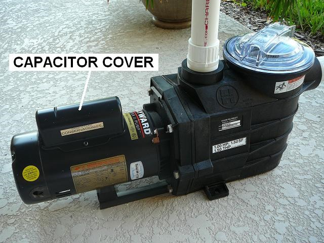 pool pump capacitor hump cover