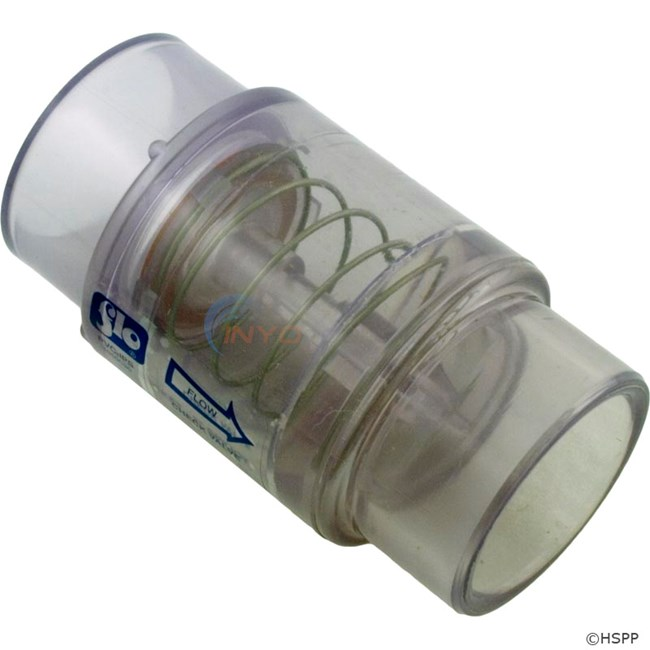 Check Valve, 1/4# Spring, Clear - 1050-C20