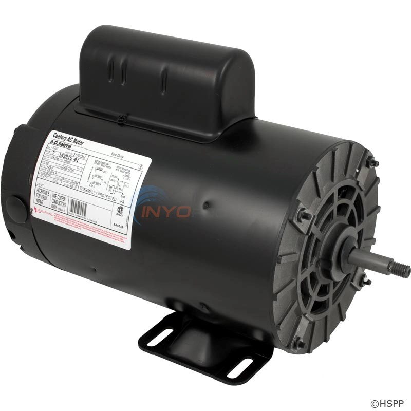 Waterway Motor, Thrubolt, 56 Fr, 4 Hp 230v, 2spd (b235, 372162103, b2235) - Alternate 1