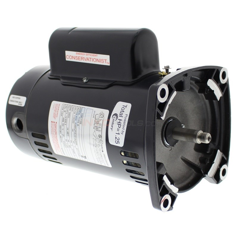 Energy Efficient A.O. Smith 1 H.P Square Flange Up Rate Motor