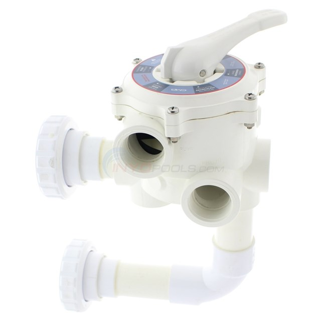 "Custom Molded Products Backwash Valve for Pentair Triton II 1-1/2"" Threaded Valve Ports - SM1-PP3"